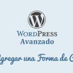 Cómo Agregar una Forma de Contacto en WordPress