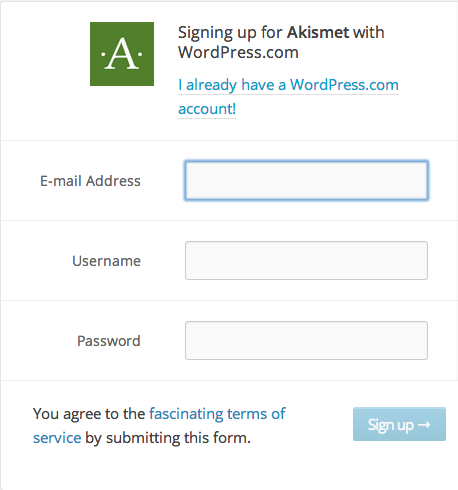 sign-up-akismet
